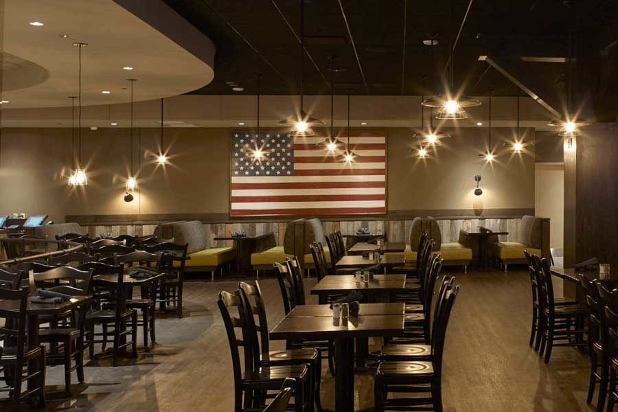 Photo of OX Pub with American Flag