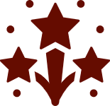 Icon with Stars and dots