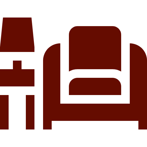 Chair and side table icon image